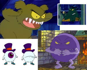Creatures from various ARTHUR episodes.