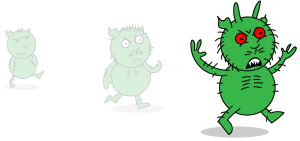 A first sketch of the little green beast--the Grudge