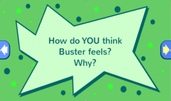 "Sample question embedded in the ""Buster's Growing Grudge"" interactive comic."